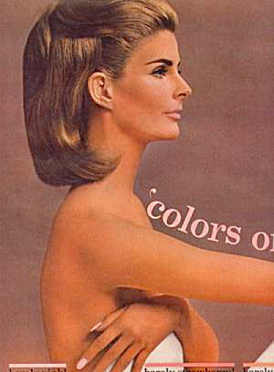 1963 Revlon Naked side Ad ANGELA HOWARD Model (Image1)