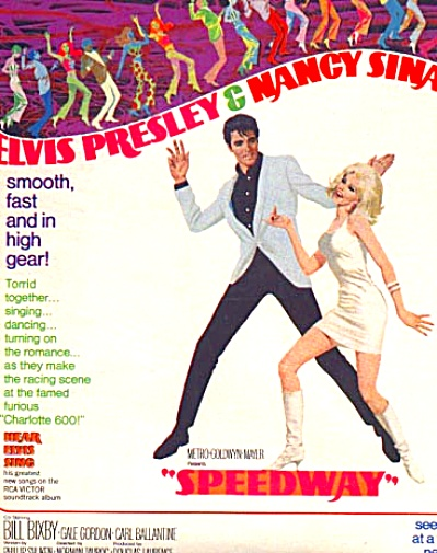 1968 Speedway Elvis Movie Ad Nancy Sinatra (Image1)
