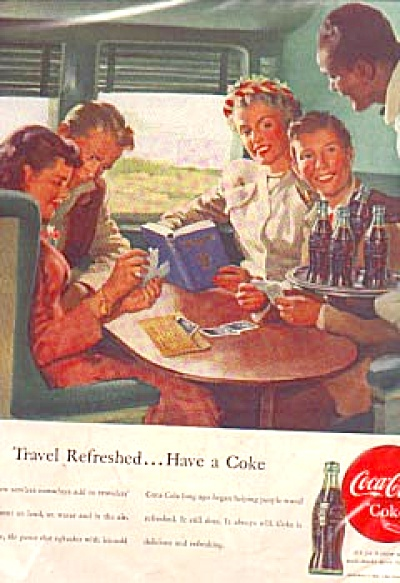 1948 Coca-Cola People On Train Ad (Image1)