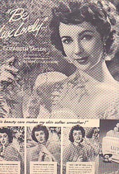1951 Elizabeth Taylor Lux Soap Ad (Image1)