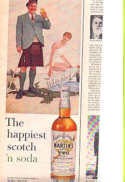 1960 Man/Kilt Martins Blended Scotch Whiskey (Image1)