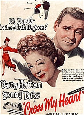 1946 Cross My Heart Betty Hutton Movie Ad (Image1)