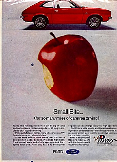 1972 Ford Pinto CAR Red Apple Ad (Image1)