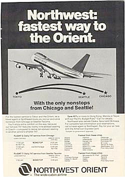 1978 Northwest Orient Airlines AD (Image1)