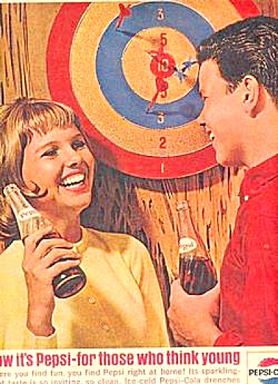 1964 Pepsi Cola Dart Board Game DARTS AD (Image1)