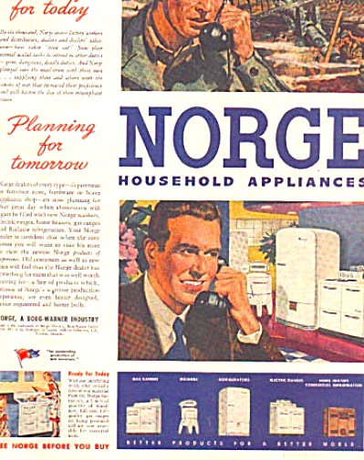 1944 Norge Wartime WWII Appliance AD (Image1)