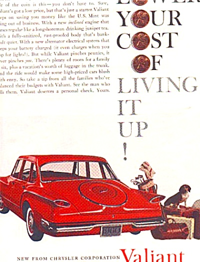 1960 Chrysler Valiant Dog Golf Ad (Image1)