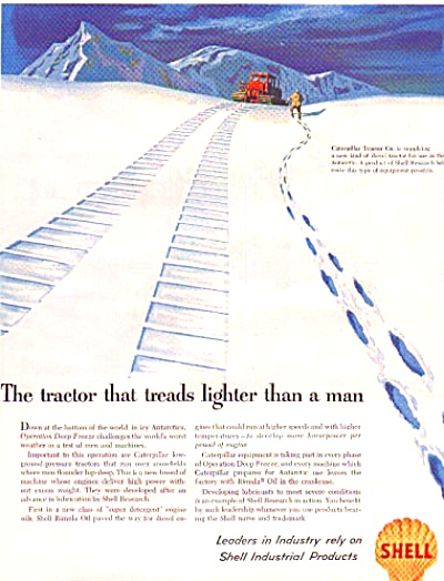 1957 Shell Co./caterpillar Tractor Ad