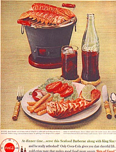 1960 Coca-Cola Lobster  Barbeque Ad (Image1)