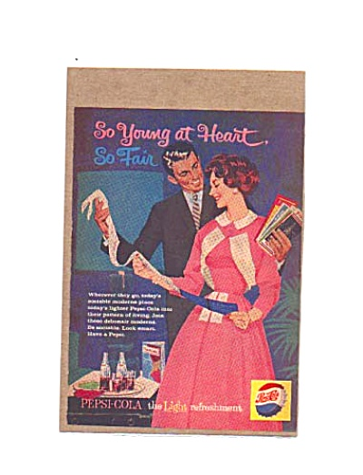 1959 Young At Heart Debonair PEPSI Ad (Image1)