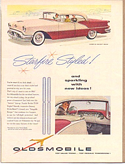 1956 Oldsmobile Starfire Super 88 Holiday Ad (Image1)