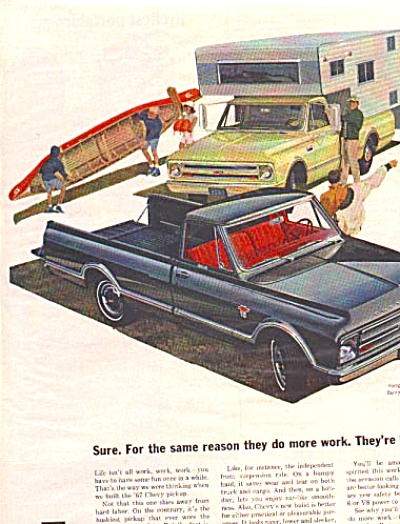 1967 Chevrolet CHEVY Pickup Custom Camper Ad (Image1)