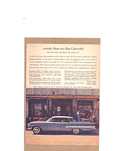 1960 Chevrolet Impala  Old Time Store Ad (Image1)