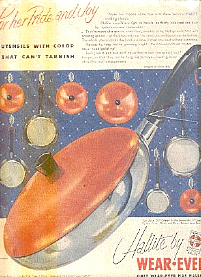 1954 Hallite Wear-ever Cookware Ad