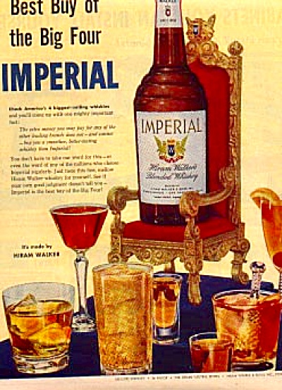 1954 Imperial Hiram Walkers Whiskey Ad