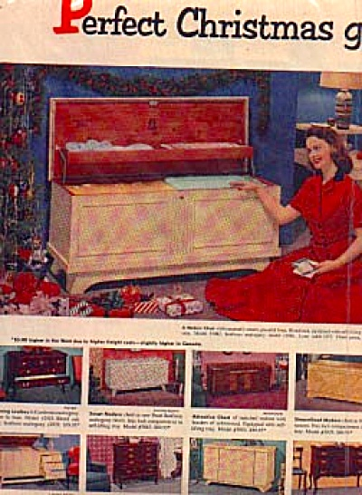 1954 Cedar Chest Models 2pg By Lane Ad (Image1)