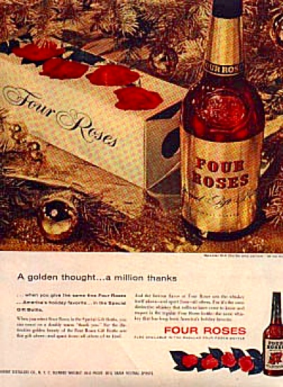 1954 Four Roses Blended Whiskey Ad (Image1)