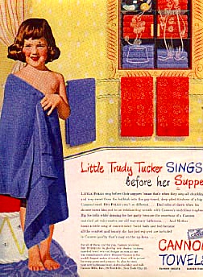 1945 Little Trudy Tucker Sings Cannon TowelAd (Image1)
