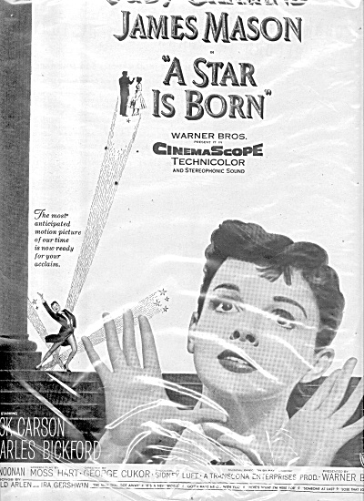1954 Judy Garland James Mason Movie Ad