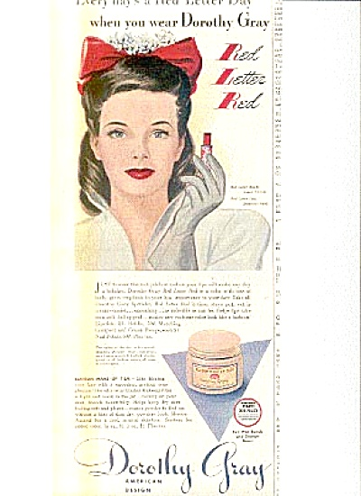 1943 Dorothy Gray Beauty AD Katherine ALDRIDGE (Image1)