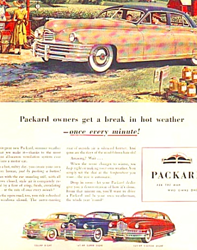 1948 PACKARD CUSTOM SUPER 8 CAR AD (Image1)