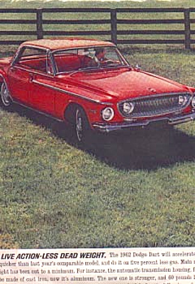 1962 DART DODGE RED Vi CAR AD (Image1)