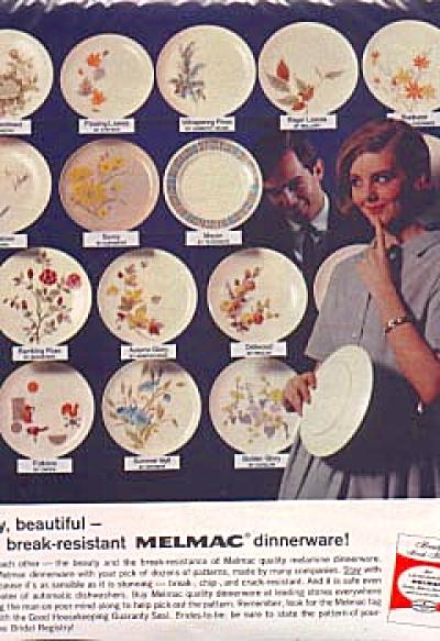 1963 Melmac Dinnerware Indentification Ad (Image1)