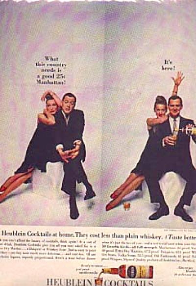 1961 Heublein Cocktails Tony Randall Ad (Image1)