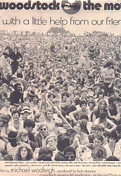 1970 Woodstock The Movie Ad (Image1)