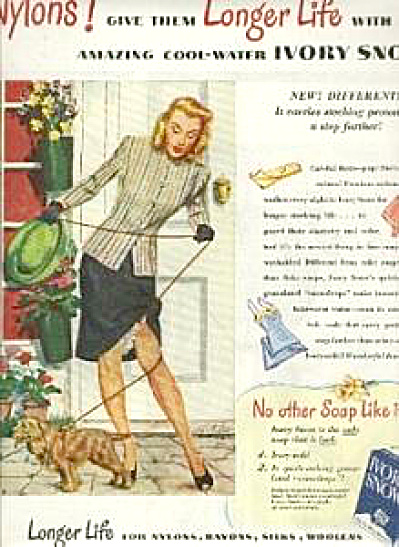 1946 Ivory Snow Lady & Cocker Spaniel Soap AD (Image1)