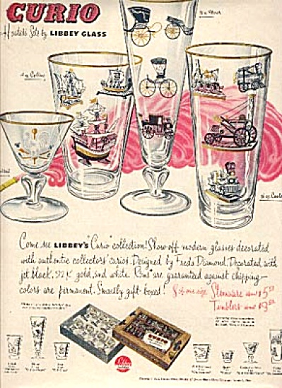 1953 Libbey CURIO Hostess Glass Pattern AD (Image1)