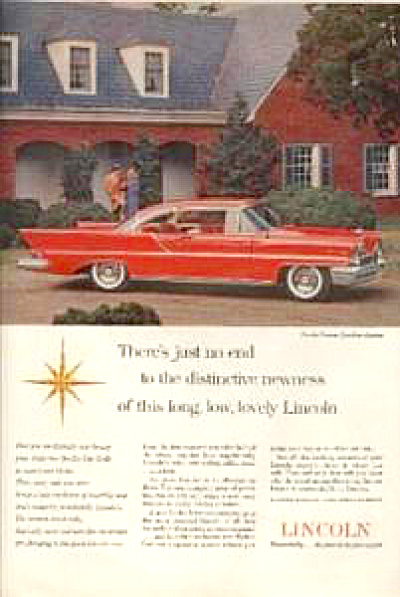 1957 Lincoln Continental Premier CAR AD FINS (Image1)