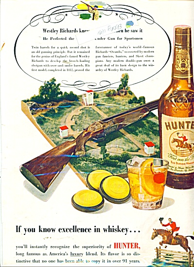 Hunter blended whiskey ad 1951 (Image1)