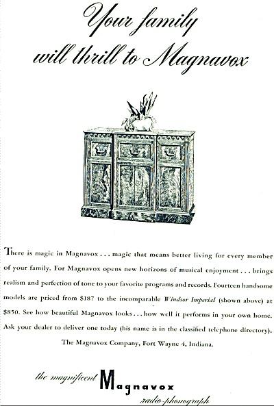 1948 Magnavox radio phonograph ad - 1948 (Image1)