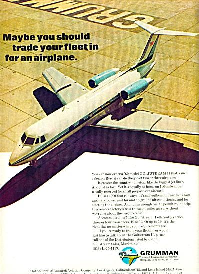1969 GRUMAN AIRCRAFT Gulfstream Plane AD (Image1)