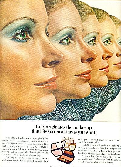 1970 Coty Originals MakeUP AD VICKI HILBERT (Image1)