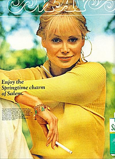 1970 SALEM Cigarettes AD Model Jennifer CHARM (Image1)