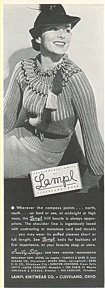 Lampl Knitwear Co., ad 1936 (Image1)