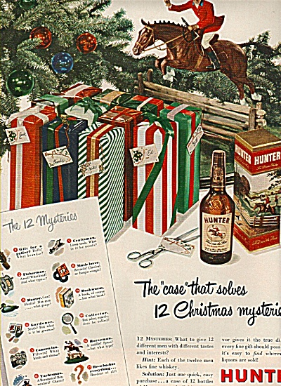Hunter  Fine whiskey ad 1949 (Image1)