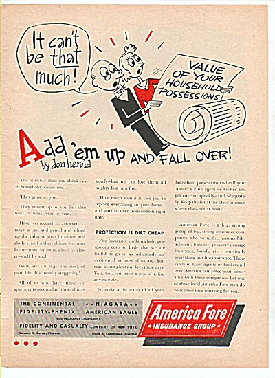 America Fore Insurance group ad 1947 (Image1)