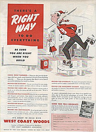 West coast woods ad - 1949 (Image1)