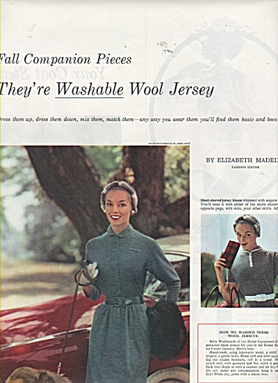 Professional models displaying coas, jersey ads 1953 (Image1)