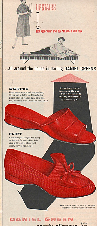 Daniel Green Slippers Ad 1953