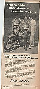 Harley Davison motor cycle ad 1960 (Image1)
