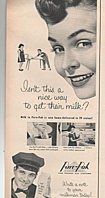 Pure-Pak milk container ad 1953 (Image1)