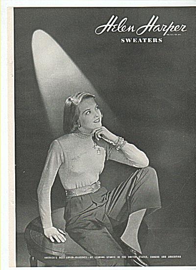 Helen Harper sweaters ad 1945 (Image1)