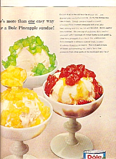 Dole Hawaiian Pineapple Ad - 1965