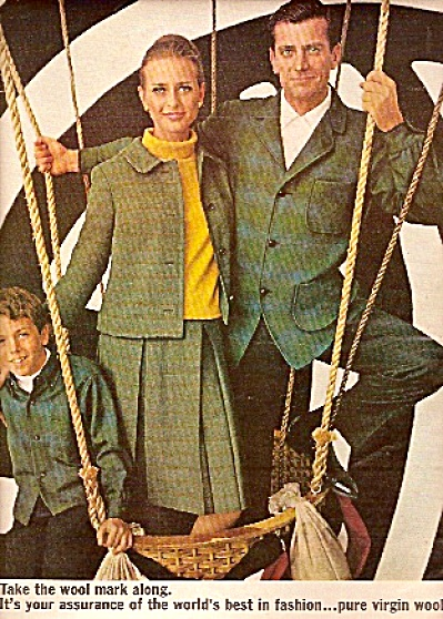 Pure Virgin Wool fashions by Pendleton ad 1965 (Image1)