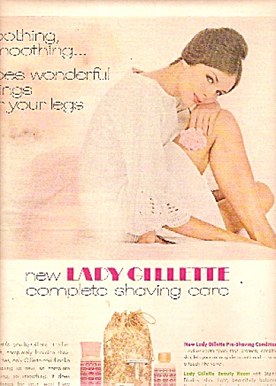 Lady Gillette Razor, products ad 1965 (Image1)