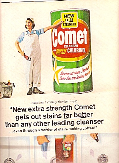 Comet Cleanser- Josephine the plumber - ad 1965 (Image1)